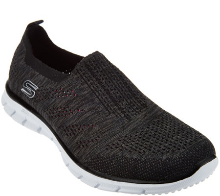 Skechers Flat Knit Slip-On Sneakers - Stunner