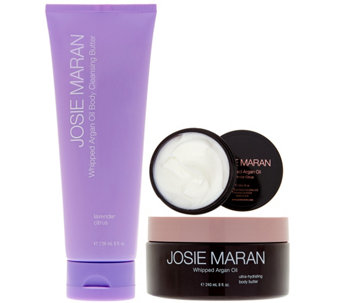 Josie Maran Cleanse & Hydrate Body Butter Trio in Lavendar Citrus - A288377