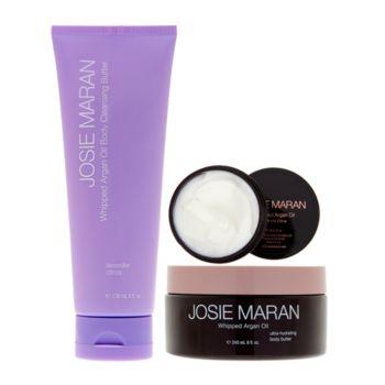 Josie Maran Cleanse & Hydrate Body Butter Trio in Lavender Citrus