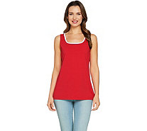 Susan Graver Modern Essentials Stretch Cotton Modal Tank - A288477