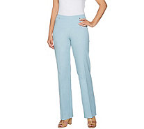 H by Halston Petite Studio Stretch Wide Leg Pull-on Pants - A289577