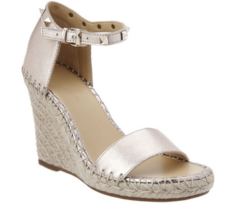 Marc Fisher Leather Espadrille Wedges - Kicker
