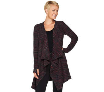"""As Is"" Cuddl Duds Fleecewear Stretch Long Sleeve Wrap - A291177"
