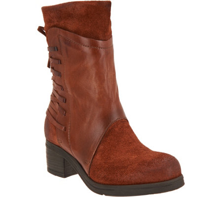 Miz Mooz Leather and Suede Mid Calf Boots - Sakinah