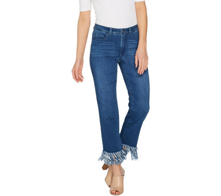 Women with Control Regular My Wonder Denim Fringe Jeans