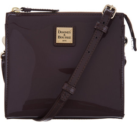 """As Is"" Dooney & Bourke Patent Leather North/ South Jaime Crossbody"