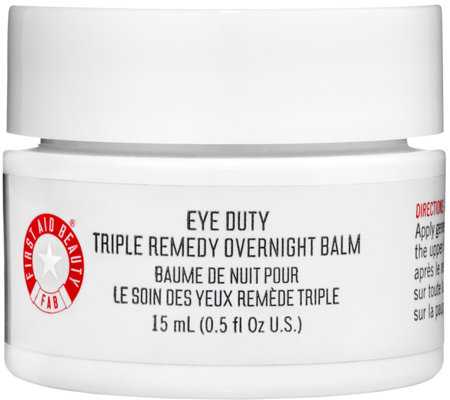 First Aid Beauty Eye Duty Triple Remedy Overnight Balm, 0.5 oz