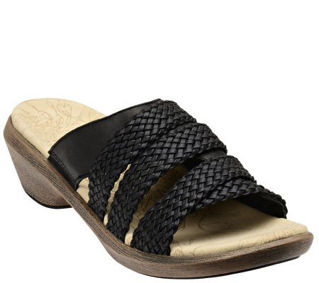 Spenco Leather Slide Sandals - Virginia