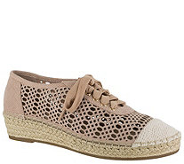 Bella Vita Leather Espadrille Lace Up Shoes - Clementine - A363377