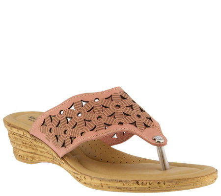 Spring Step Leather Thong Sandals - Tiffany