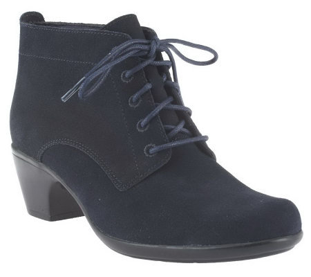 Clarks Water Resistant Suede Ankle Boots - Ingalls Lace