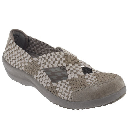 """As Is"" Skechers Relaxed Fit Memory Foam Woven Mary Jane"