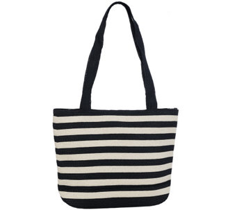 Denim & Co. Beach Bag with Zipper - A265078