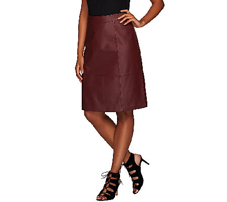 Liz Claiborne New York Heritage Collection Leather Skirt