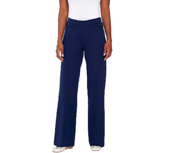 Isaac Mizrahi Live! Regular 24/7 Stretch Wide Leg Pants - A266878