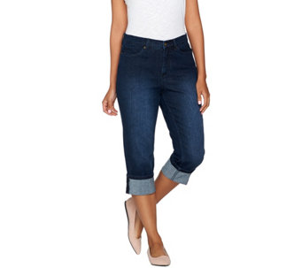 "Denim & Co. ""How Modern"" Colored Denim Convertible Capri - A275878"