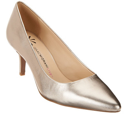 """As Is"" Isaac Mizrahi Live! Kitten Heel Pumps"