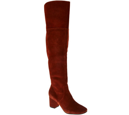 Sole Society Suede Over-the-knee Boots - Leandra