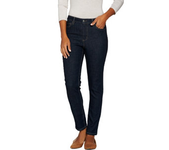 Denim & Co. 5-Pocket Denim Slim Straight Leg Ankle Jeans - A283178