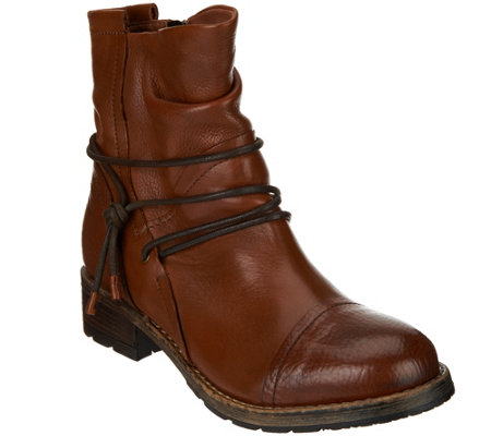 Clarks Artisan Leather Slouch Boots - Volara Dina