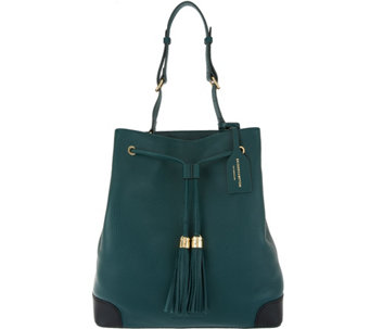 Isaac Mizrahi Live! Bridgehampton Drawstring Bucket Bag - A284378