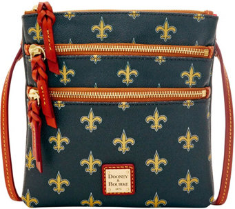 Dooney & Bourke NFL Saints Triple Zip Crossbody - A285678