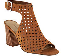 Marc Fisher Perforated Suede Booties - Berdie - A287478