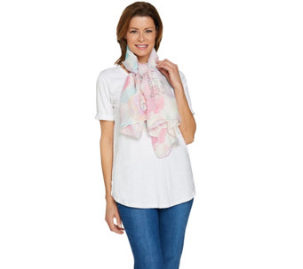 Peace Love World Woven Print Scarf - A288678