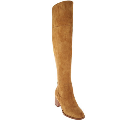 """As Is"" Marc Fisher Suede Over the Knee Boots - Escape"