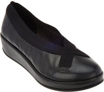 """As Is"" FLY London Leather Slip-on Shoes - Bobi - A290878"