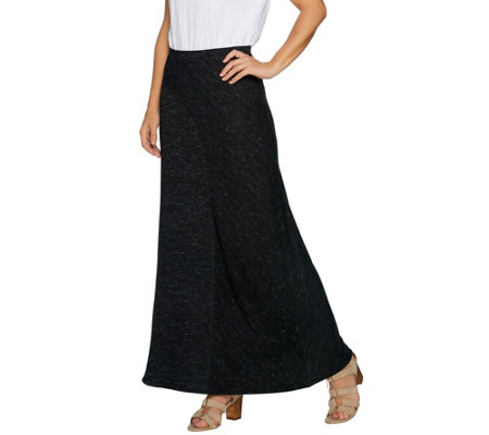 Lisa Rinna Collection Pull-On Knit Skirt with Seam Detail