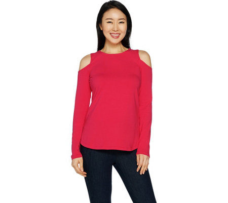 Women with Control Cold-Shoulder Knit Top