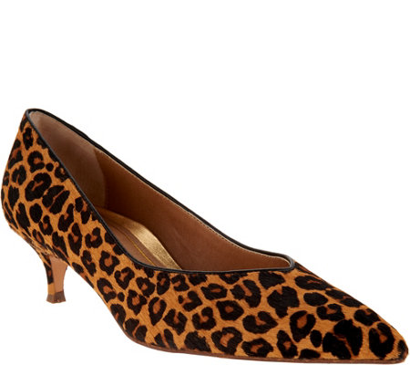 Vionic Haircalf Kitten Heel Pumps - Josie