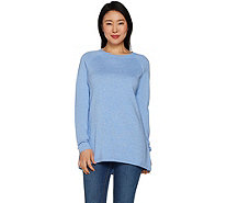 Martha Stewart Raglan Sleeve Hi-Low Hem Sweater Tunic - A301078
