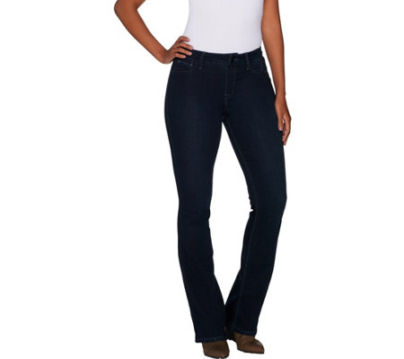 Laurie Felt Silky Denim Pull-On Boot Cut Jeans