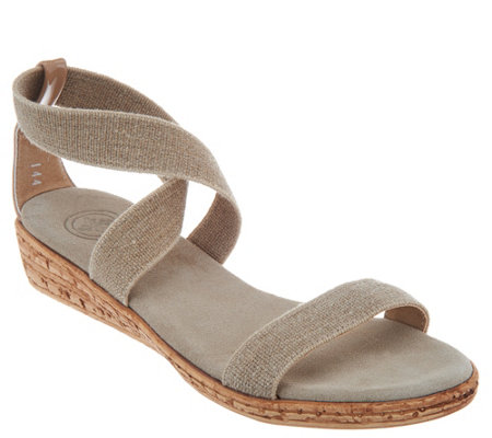 Charleston Shoe Co. Multi Strap Wedge Sandals - Easton