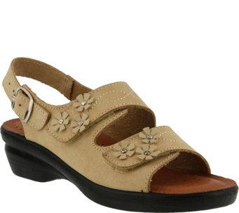 Flexus by Spring Step Leather Floral Sandals -Ceri - A356978