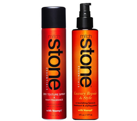 Mitch Stone Dry Texture Spray and Luxury Repair& Style