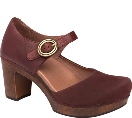 Dansko Leather Clog Mary Janes - Dorothy