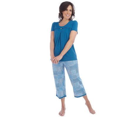 Liz Claiborne New York 3 Piece Pajama Set Page 1 Qvc Com
