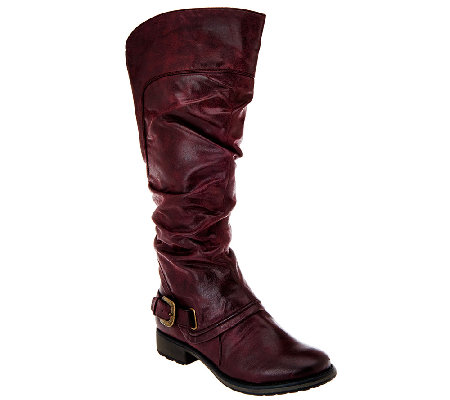 BareTraps Tall Shaft Boots w/Ruching & Gore Detail - Sheridan