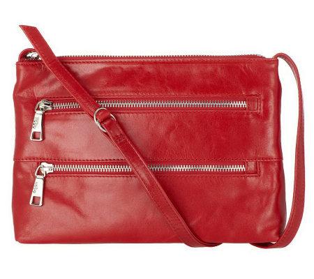 Hobo Leather Mara Crossbody Bag with Triple Zip Design - Page 1 ...