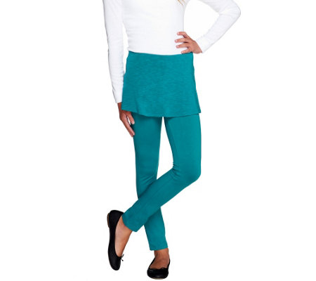 LOGO Littles by Lori Goldstein Knit Leggings with Skirt