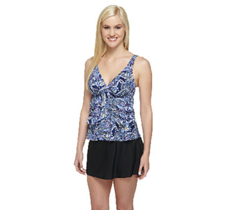 DreamShaper by Miraclesuit Tiered Ruffle Tankini with Skirtini - A255879
