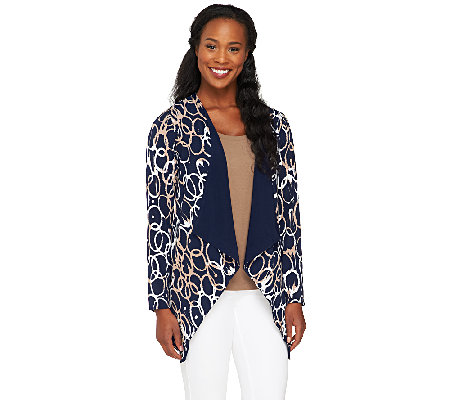 Attitudes by Renee Cascade Front Reversible Jacket