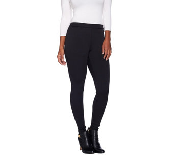 H by Halston Classic Ribbed Leggings - A262979