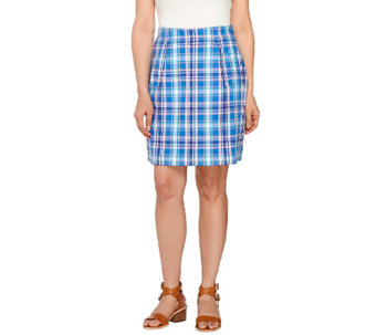 Denim & Co. Golf Plaid Skort with Pockets - A265079