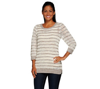 Liz Claiborne New York Striped Pullover Sweater - A266179