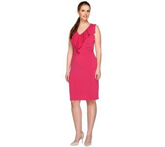 Kelly by Clinton Kelly Sleeveless Dress with Ruffle Detail - A266479
