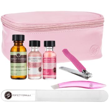 Perfect Formula Pink Gel Coat 6-Pc Manicure Kit with Bag